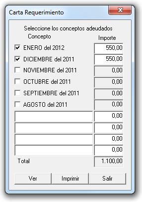 Requerimiento de rentas